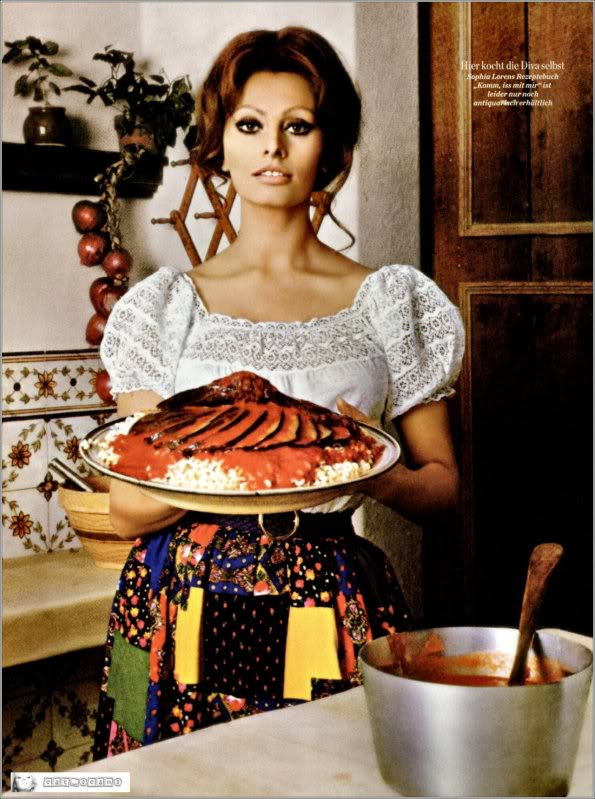 Sophia Loren In the Kitchen with Love
