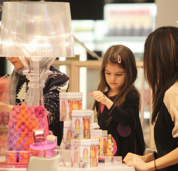 EXCLUSIVE: Suri Cruise Testing Lipsticks In Holt Renfrew