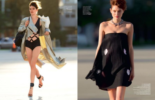Vogue Ukraine Catherine McNeil Hans Feurer Georgina Graham