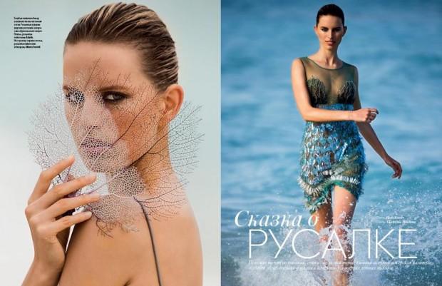 Vogue Ukraine Hans Feurer Karolina Kurkova Georgina Graham Ekaterina Mukhina Erika Svedjevik