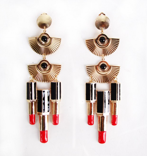 Pat Fields Lipstick Earring